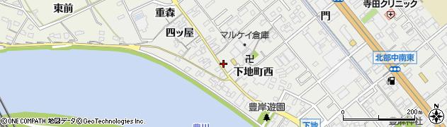 愛知県豊橋市下地町(豊麻)周辺の地図