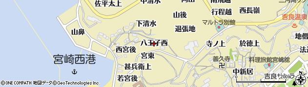 愛知県西尾市吉良町宮崎(八王子西)周辺の地図