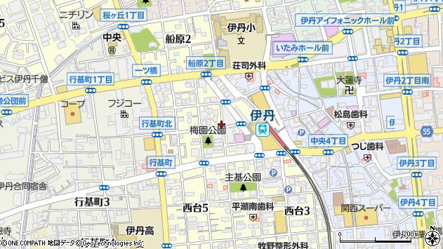 〒664-0858 兵庫県伊丹市西台の地図