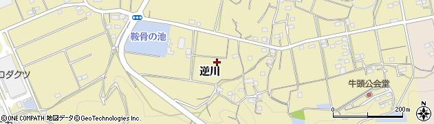 静岡県掛川市逆川周辺の地図
