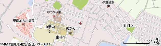 兵庫県加古川市山手周辺の地図