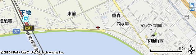 愛知県豊橋市下地町(東前)周辺の地図