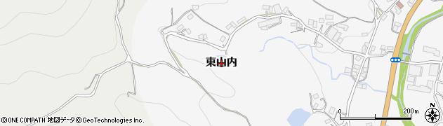 岡山県岡山市北区東山内周辺の地図