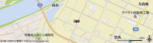 愛知県豊橋市清須町(兵庫)周辺の地図