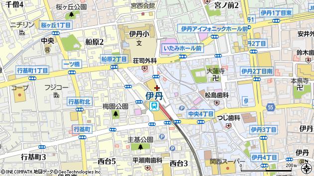 〒664-0851 兵庫県伊丹市中央の地図