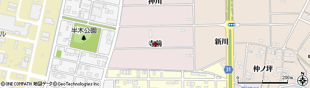 愛知県豊橋市牛川町(寺前)周辺の地図