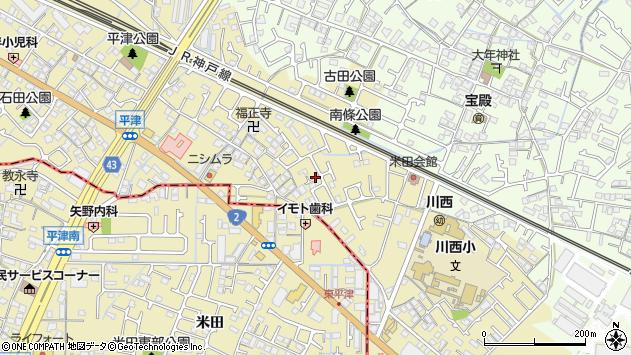 〒675-0054 兵庫県加古川市米田町平津の地図