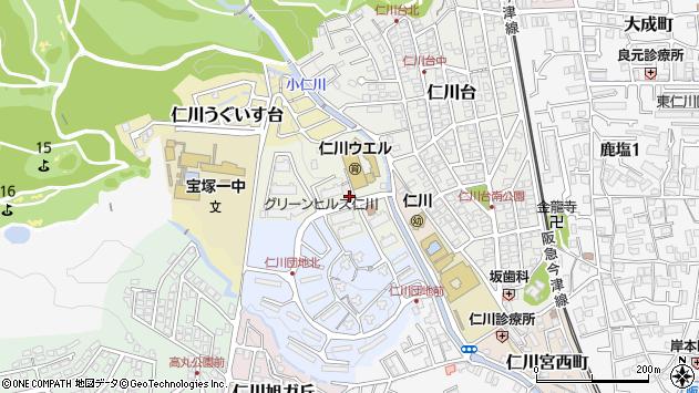 〒665-0066 兵庫県宝塚市仁川団地の地図