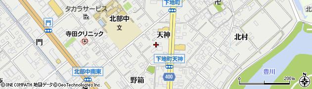 愛知県豊橋市下地町周辺の地図