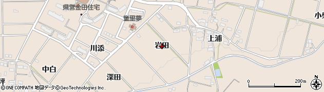 愛知県豊橋市石巻町(岩田)周辺の地図
