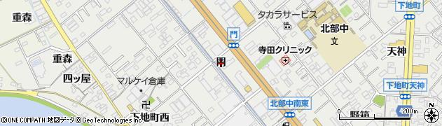 愛知県豊橋市下地町(門)周辺の地図