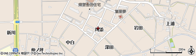 愛知県豊橋市石巻町(川添)周辺の地図