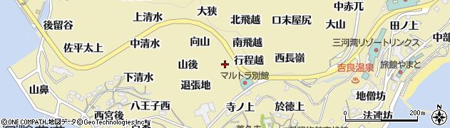 愛知県西尾市吉良町宮崎(東山後)周辺の地図