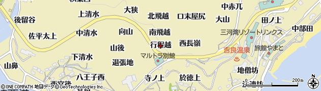 愛知県西尾市吉良町宮崎(行程越)周辺の地図