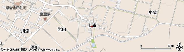 愛知県豊橋市石巻町(上浦)周辺の地図