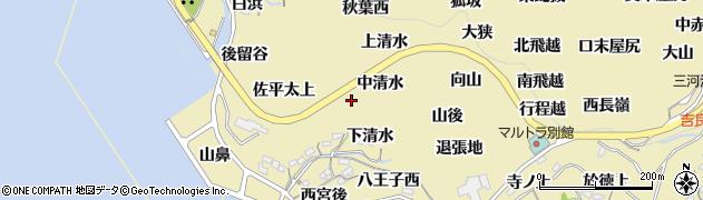 愛知県西尾市吉良町宮崎(中道)周辺の地図