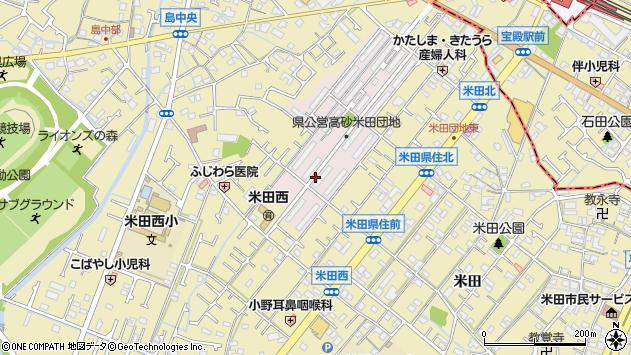 〒676-0809 兵庫県高砂市米田団地の地図