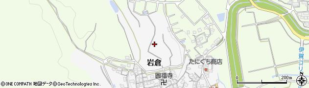 三重県伊賀市岩倉周辺の地図