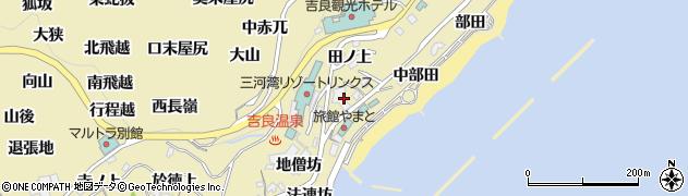 愛知県西尾市吉良町宮崎(中道下)周辺の地図