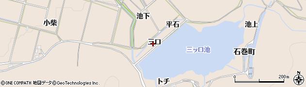 愛知県豊橋市石巻町(三口)周辺の地図