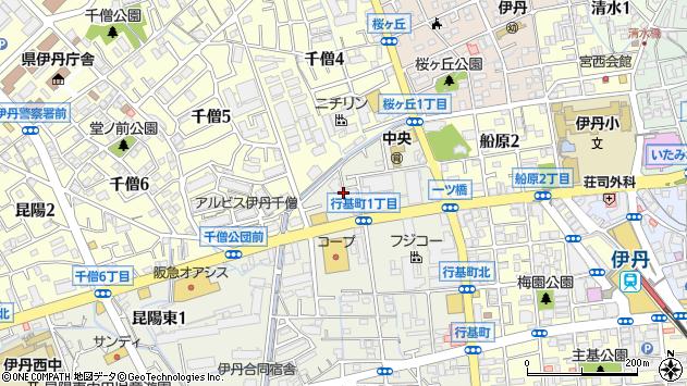 〒664-0857 兵庫県伊丹市行基町の地図
