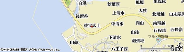愛知県西尾市吉良町宮崎(佐平太上)周辺の地図