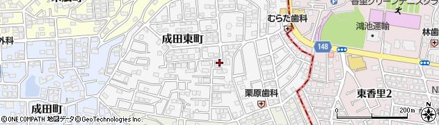 大阪府寝屋川市成田東町周辺の地図