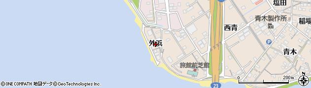 愛知県豊橋市前芝町(外浜)周辺の地図