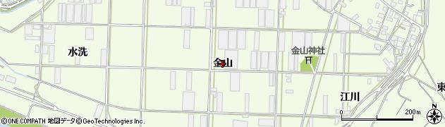 愛知県豊橋市大村町(金山)周辺の地図