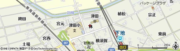愛知県豊橋市横須賀町(林)周辺の地図