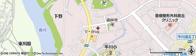 愛知県豊橋市牛川町(西側)周辺の地図