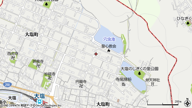〒671-0101 兵庫県姫路市大塩町の地図