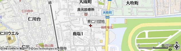 東仁川団地周辺の地図