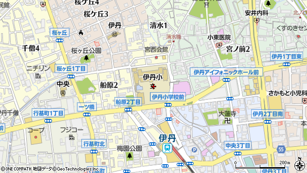 〒664-0896 兵庫県伊丹市船原の地図