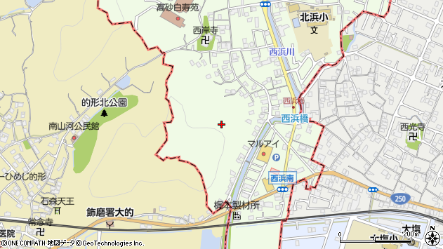 〒671-0123 兵庫県高砂市北浜町西浜の地図