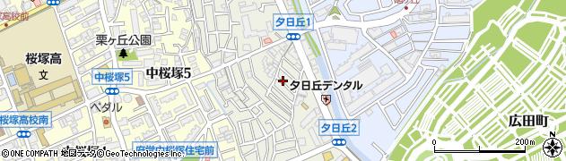 大阪府豊中市夕日丘周辺の地図