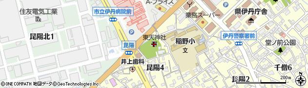 東天神社周辺の地図