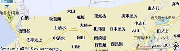 愛知県西尾市吉良町宮崎(蛇抜)周辺の地図