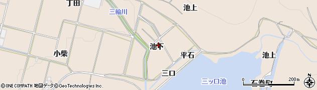 愛知県豊橋市石巻町(池下)周辺の地図
