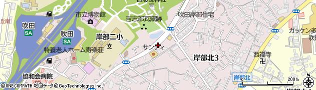 大阪府吹田市岸部北周辺の地図