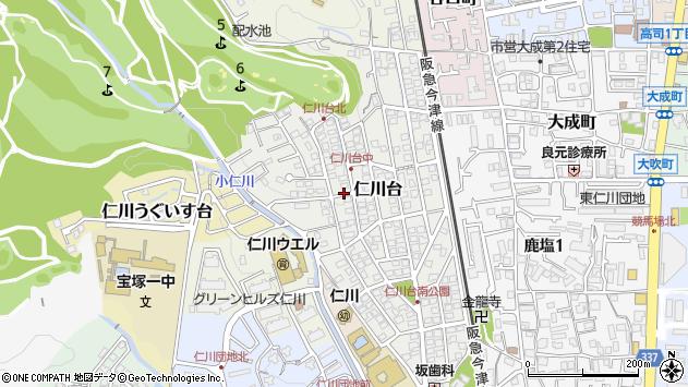 〒665-0074 兵庫県宝塚市仁川台の地図