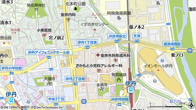 〒664-0846 兵庫県伊丹市伊丹の地図