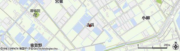 愛知県西尾市一色町千間(古浜)周辺の地図