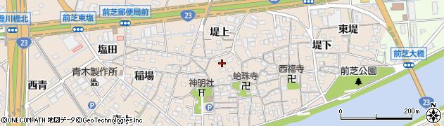 愛知県豊橋市前芝町周辺の地図