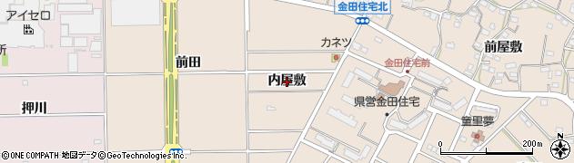 愛知県豊橋市石巻町(内屋敷)周辺の地図