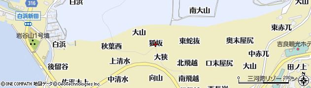 愛知県西尾市吉良町宮崎(狐坂)周辺の地図