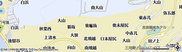 愛知県西尾市吉良町宮崎(東蛇抜)周辺の地図