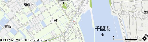 愛知県西尾市一色町千間(二重堤官地拝借無)周辺の地図