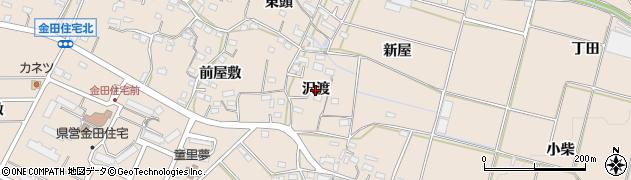 愛知県豊橋市石巻町(沢渡)周辺の地図