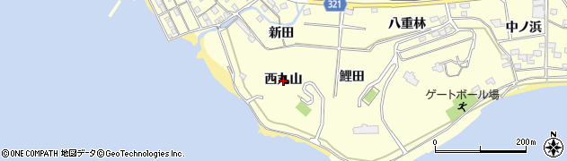 愛知県西尾市東幡豆町(西丸山)周辺の地図